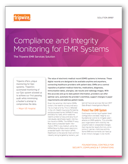 Compliance and Integrity Monitoring for EMR Systems