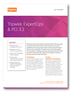 Tripwire ExpertOps and PCI